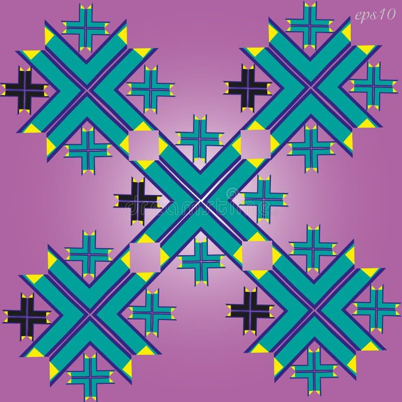 Um ornamento geométrico simples ilustração stock