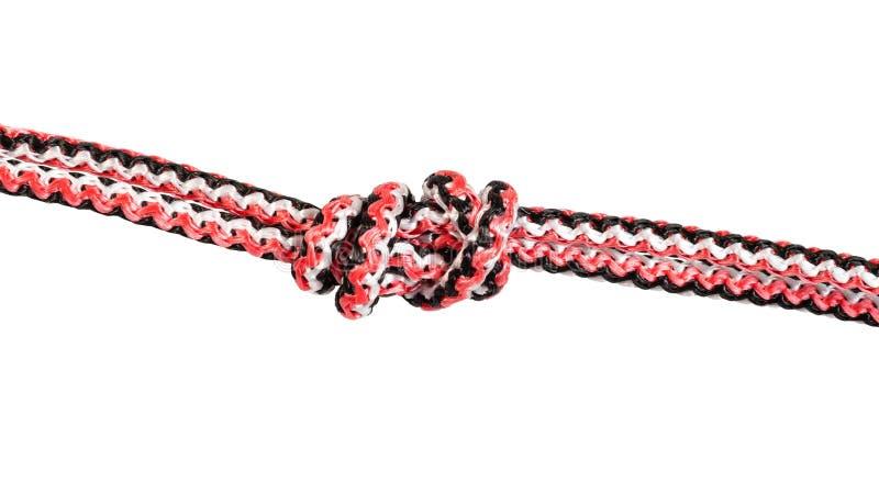 um outro lado de Ring Knot (nó da água) na corda imagem de stock royalty free