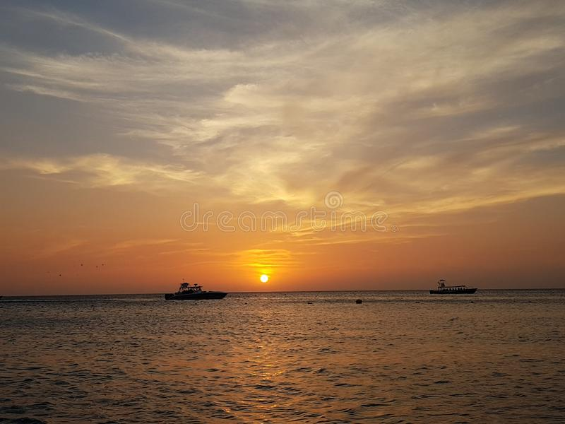 Um outro por do sol de Caribean imagens de stock royalty free