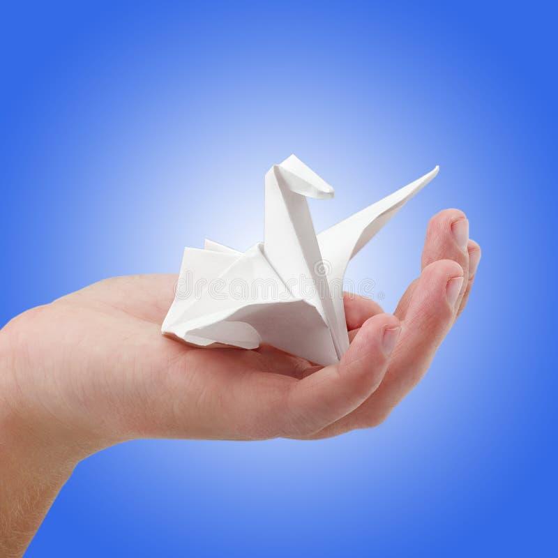 Um pássaro de papel imagem de stock