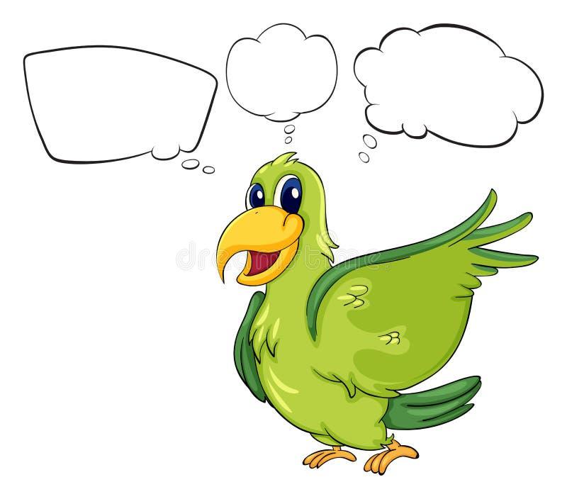 Um pássaro verde ilustração do vetor