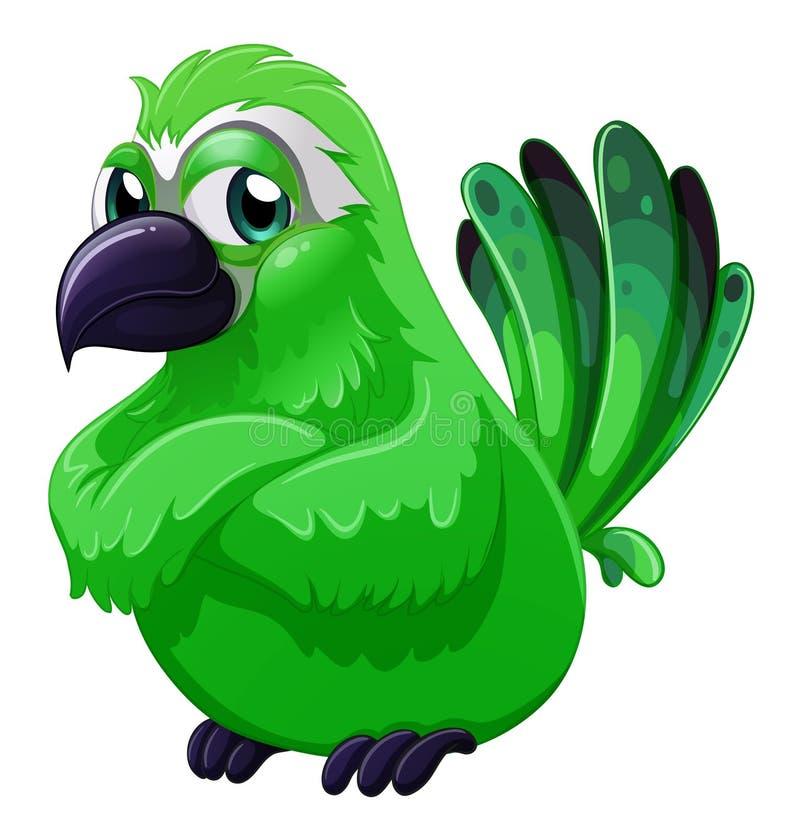 Um pássaro verde assustador ilustração royalty free