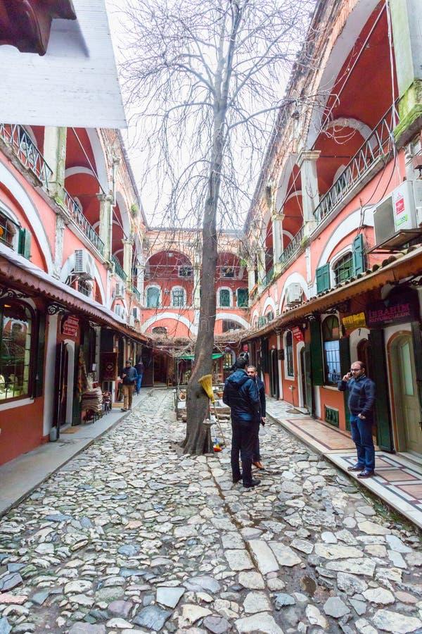 Um pátio em Istambul foto de stock