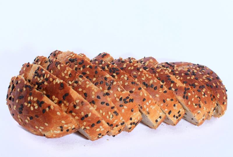 Um pão delicioso com o sésamo pronto para comer fotografia de stock royalty free