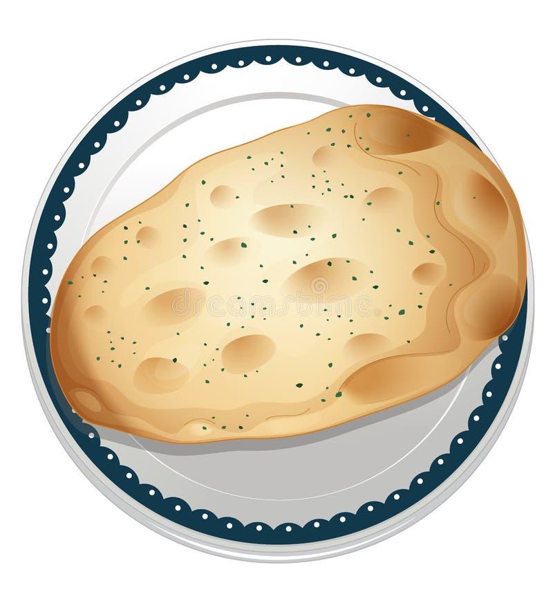Um pão naan ilustração stock