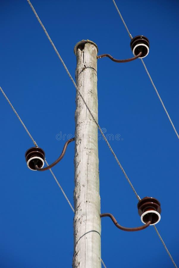 Download Pólo De Madeira Velho Da Eletricidade Imagem de Stock - Imagem de eletricidade, fundos: 29847357