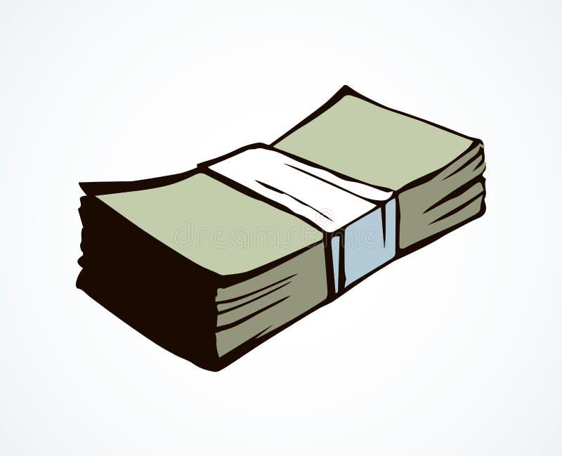 Um pacote de dinheiro Desenho do vetor ilustração stock