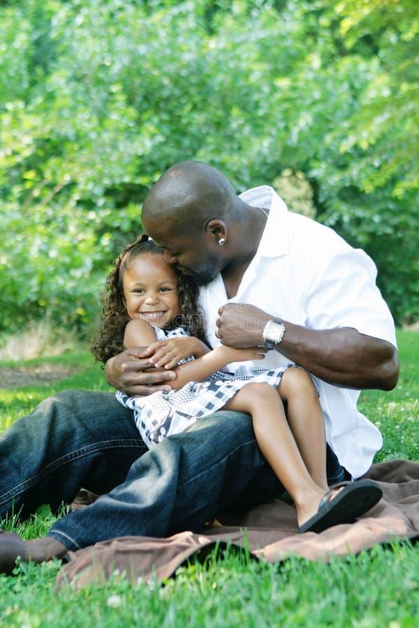 Um pai e sua filha fotografia de stock royalty free