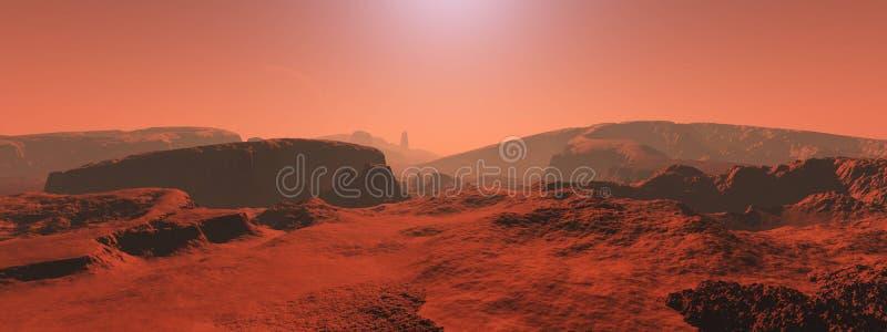Um panorama do planeta Marte ilustração do vetor