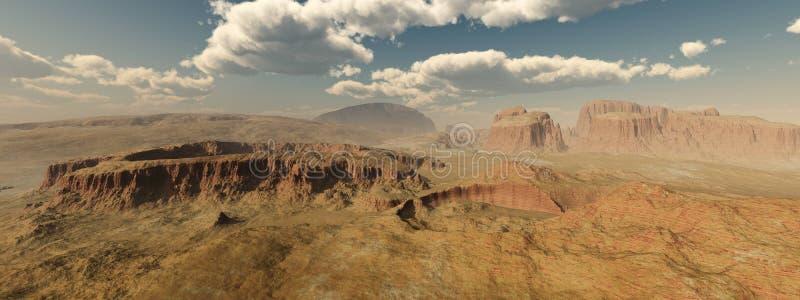 Um panorama do planeta Marte ilustração royalty free