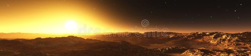 Um panorama do planeta Marte ilustração stock