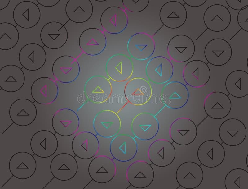 Um papel de parede impressionante no olhar do diamante ilustração do vetor
