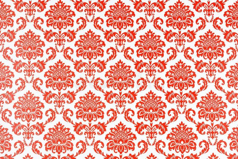 Um papel de parede de um teste padrão botânico da repetição ilustração royalty free