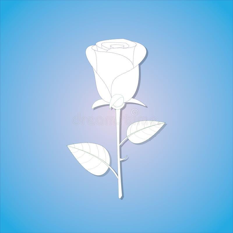 Um papel fresco e simples aumentou com máscara no fundo azul ilustração royalty free
