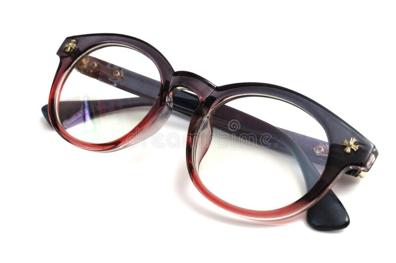 Um par de óculos ovais de sombra solar óculos contra um pano de fundo branco fotografia de stock royalty free