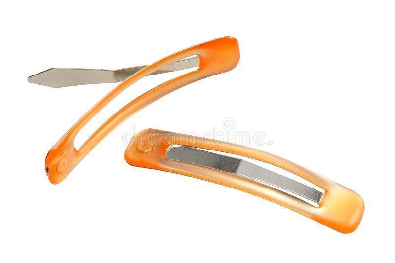 Um par de hairclips imagem de stock royalty free