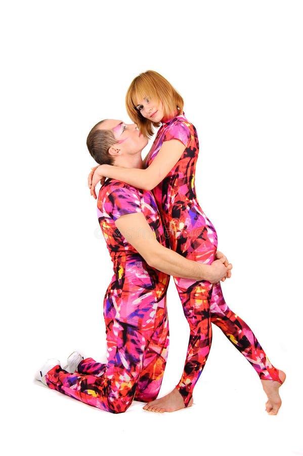 Um par gymnasts imagem de stock royalty free