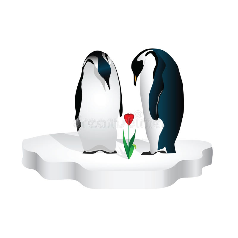 Um par pinguins ilustração royalty free