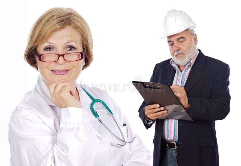 Um par trabalhadores imagem de stock