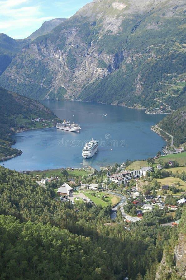 Um paraíso em Noruega imagem de stock