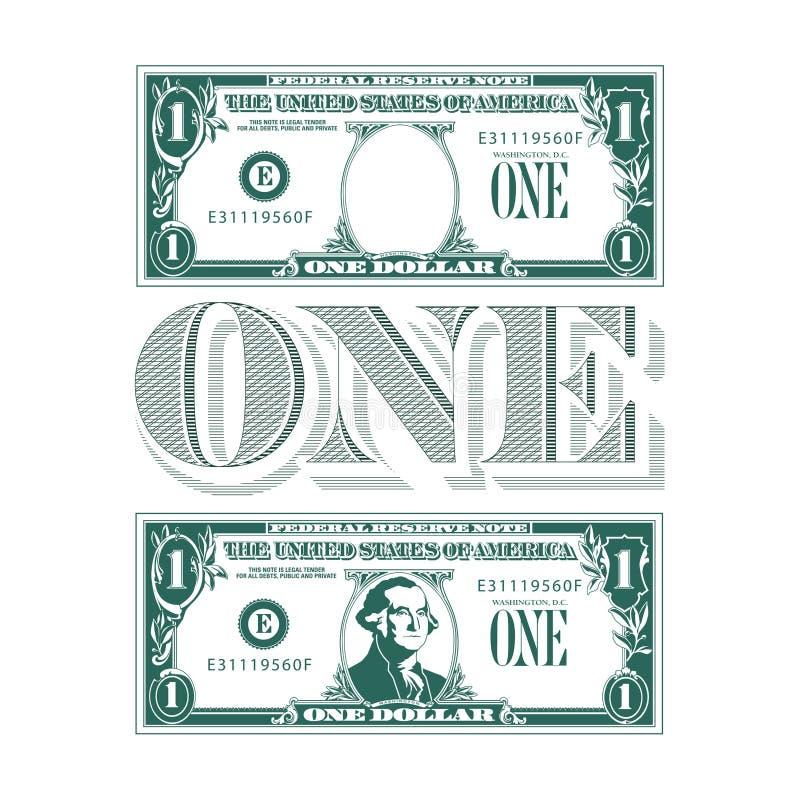 Um pedaço de um tributo à uma nota de dólar ilustração royalty free