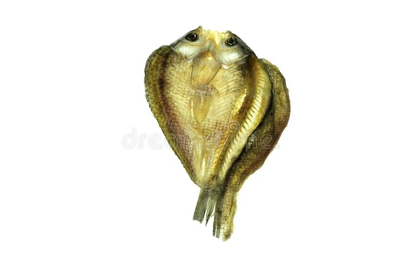 Um peixe secado salgado foto de stock