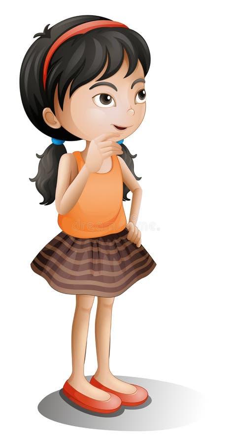 Um pensamento da rapariga ilustração royalty free