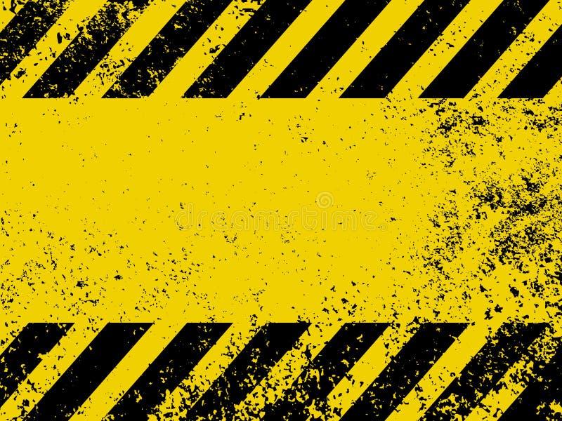 Um perigo sujo e gasto listra a textura. EPS 8 ilustração stock