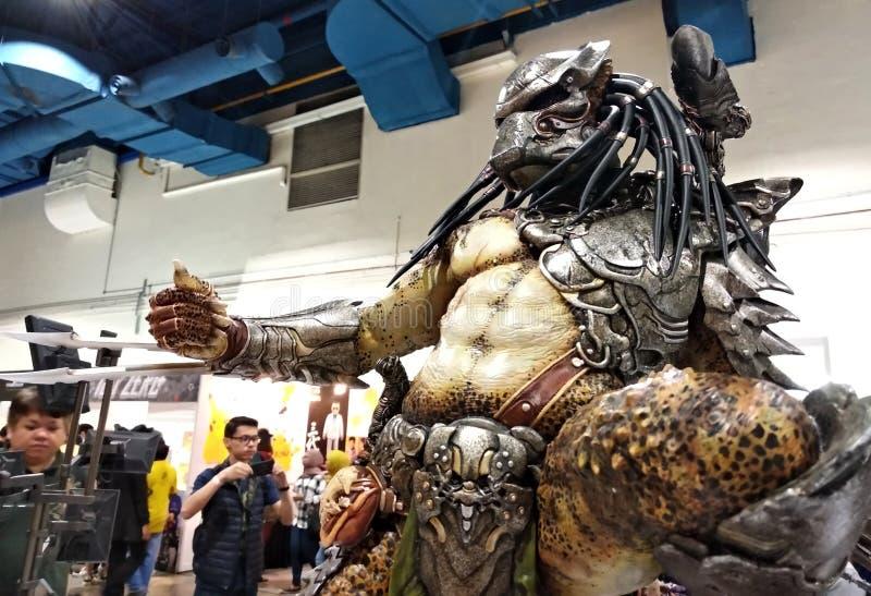 Um personagem de ficção alienígena de PREDATOR de filmes e quadrinhos foto de stock