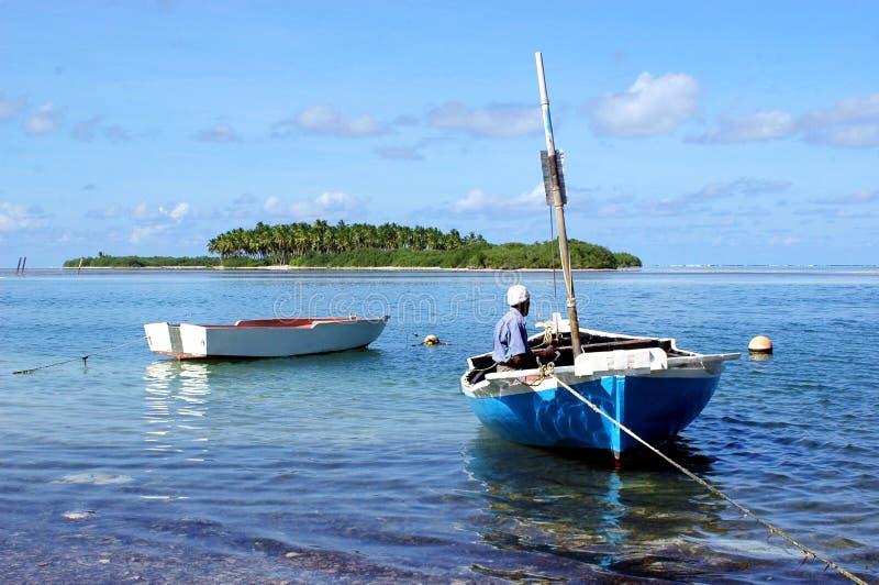 Um pescador local. fotografia de stock royalty free