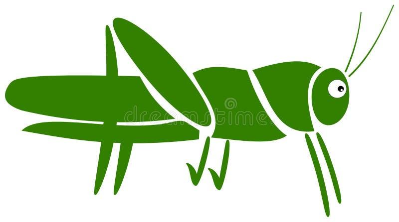 Um pictograma do gafanhoto ilustração stock