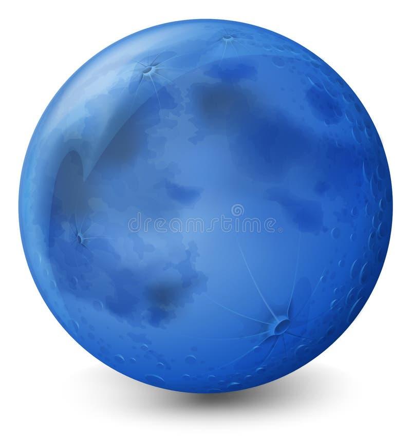 Um planeta azul ilustração stock