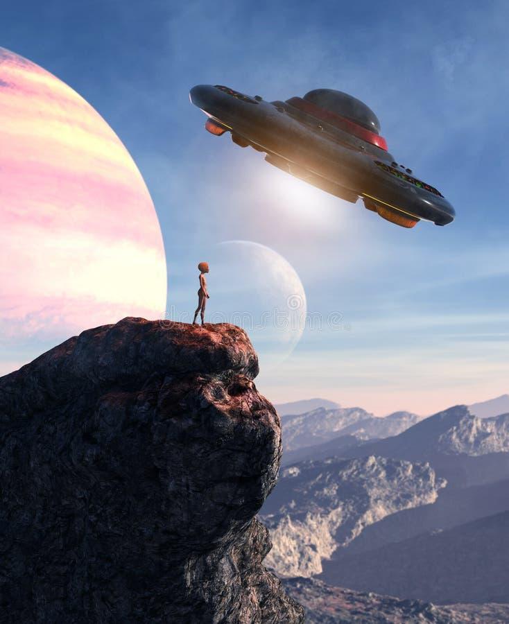 Um planeta estrangeiro ilustração royalty free