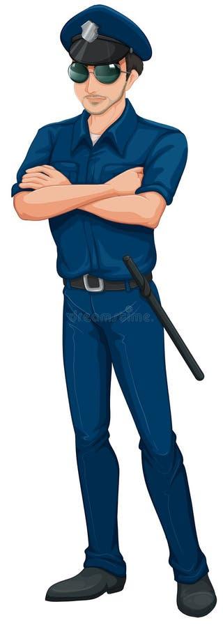 Um polícia ilustração stock