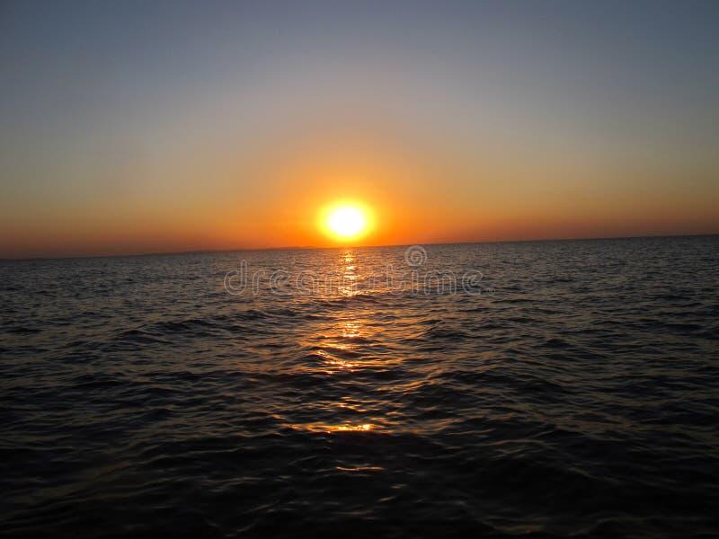 Um por do sol africano foto de stock royalty free