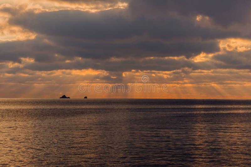 Um por do sol em Ibiza fotos de stock royalty free