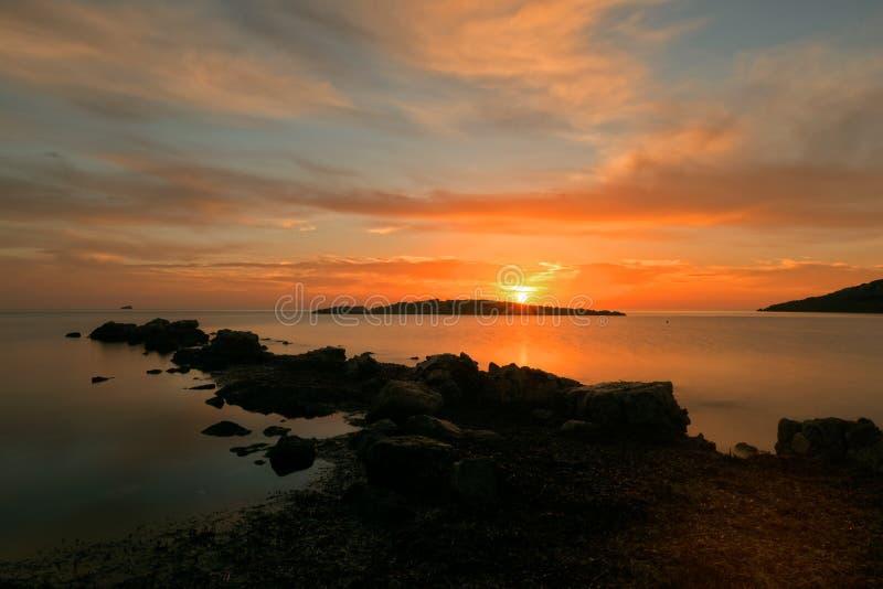 Um por do sol em Ibiza imagem de stock royalty free