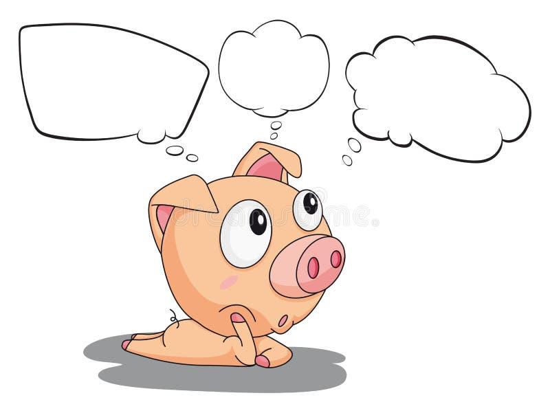 Um porco com callouts vazios ilustração royalty free