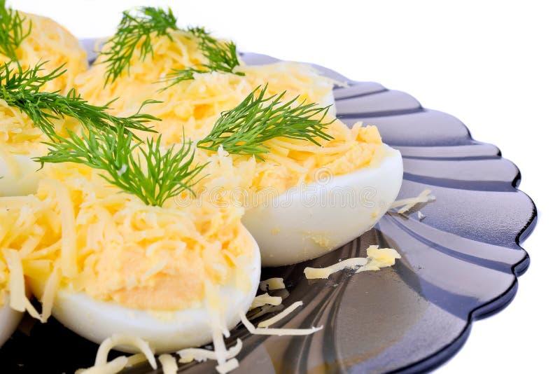 Um prato do ovo imagens de stock