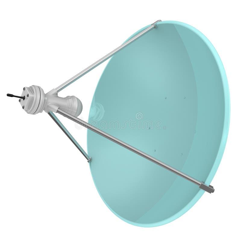 Um prato satélite ilustração do vetor
