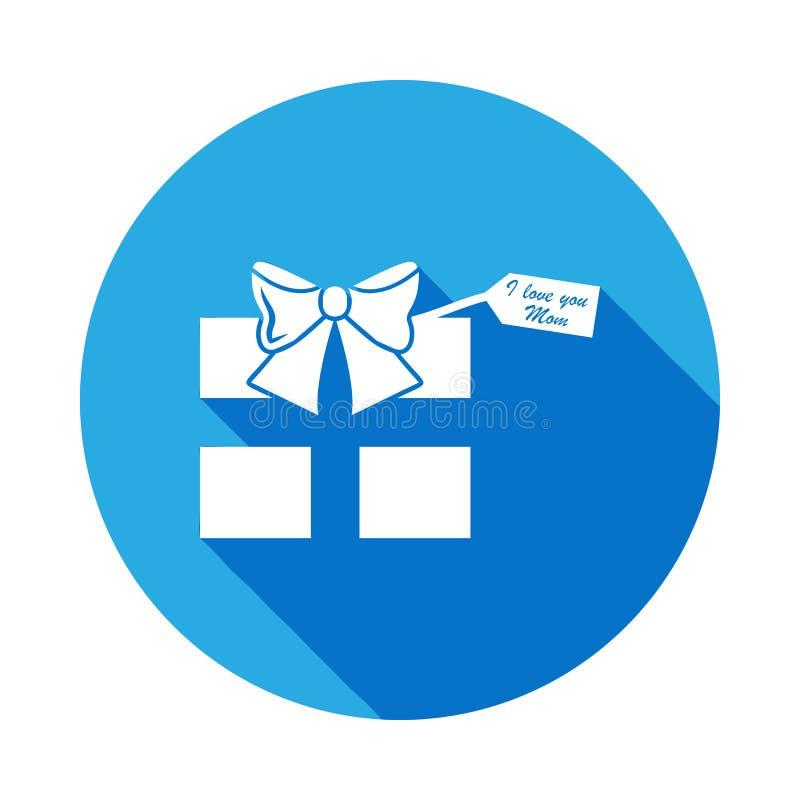 um presente com uma declaração do amor ao ícone da mãe Elemento do ícone do dia de mães Os sinais e os símbolos podem ser usados  ilustração do vetor