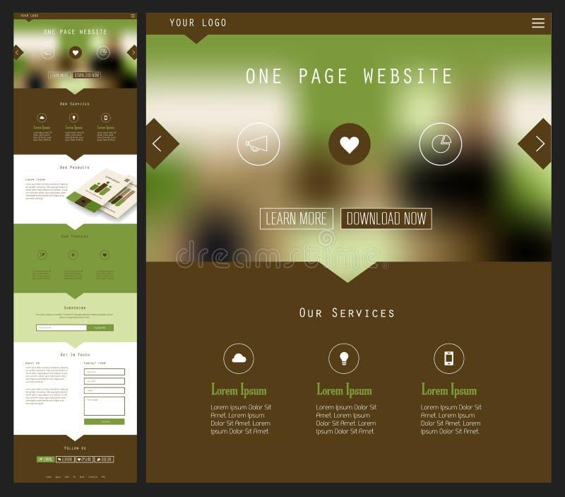 Um projeto do Web site da página ilustração do vetor