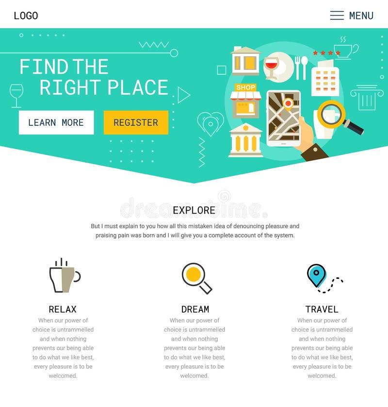 Um projeto do Web site da página ilustração stock