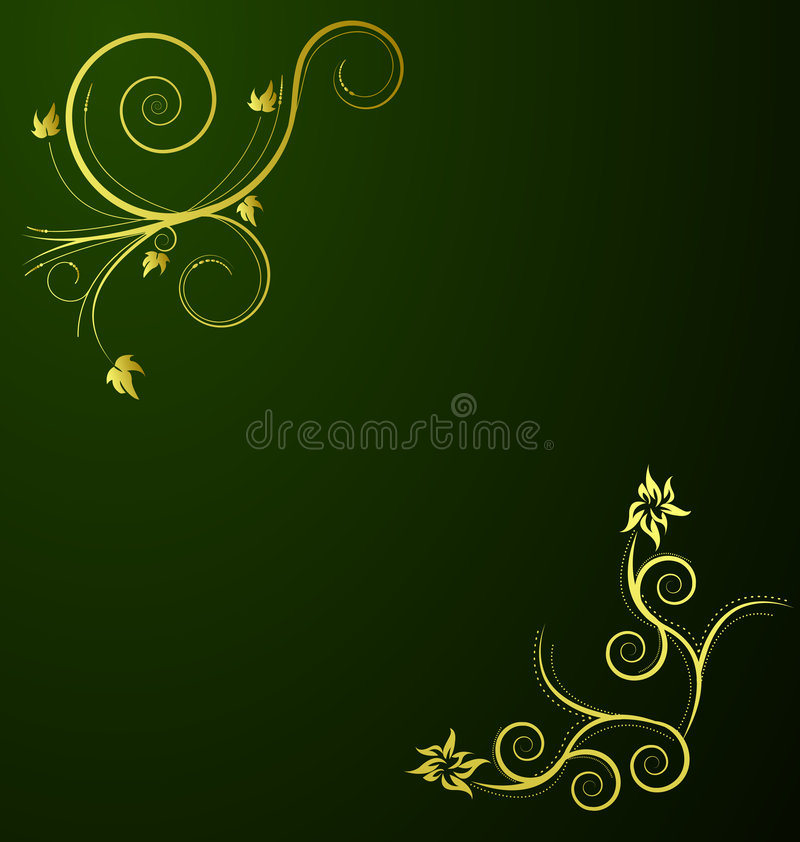 Um projeto floral abstrato beauitful ilustração royalty free