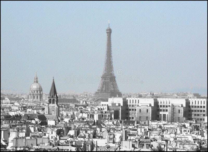 Um projeto gráfico dos desenhos animados de Paris fotografia de stock royalty free
