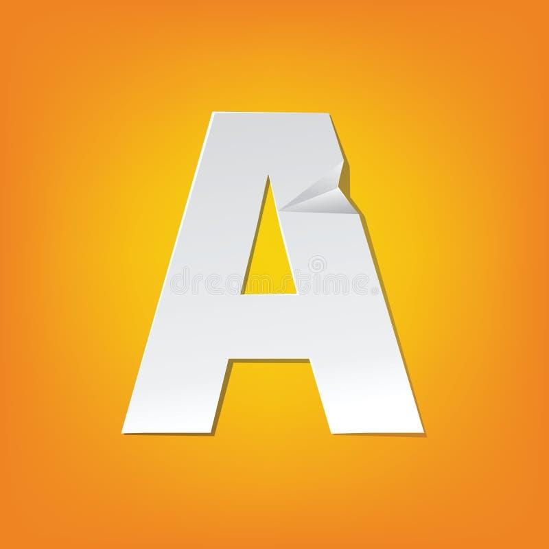 Um projeto novo do alfabeto inglês da dobra da letra principal ilustração stock