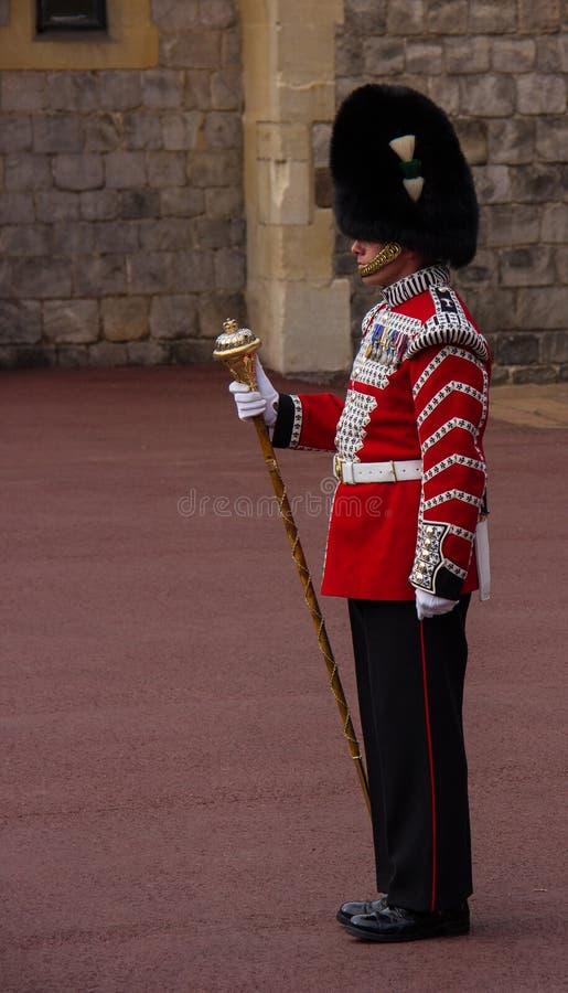 Um protetor real em Windsor Castle imagem de stock royalty free