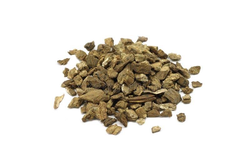 Um punhado de raizes secadas da bardana imagem de stock royalty free