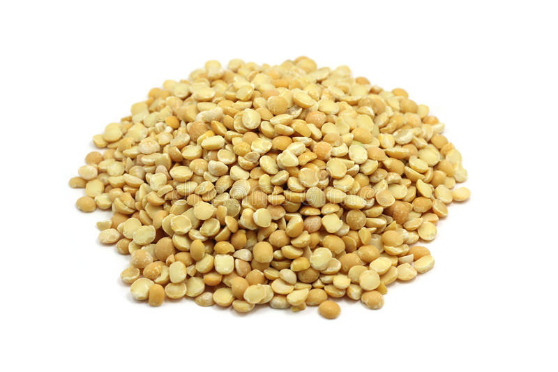 Um punhado de sementes de ervilha secadas imagem de stock royalty free