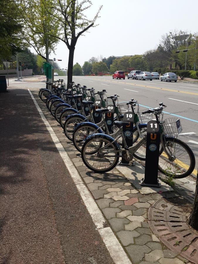 Um Q das bicicletas imagem de stock